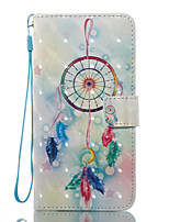 For Case Cover Card Holder Wallet with Stand Flip Pattern Full Body Case Dream Catcher Hard PU Leather for Samsung Galaxy J7 (2016) J7