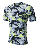 Men's Running T-Shirt Short Sleeves Quick Dry Sweat-Wicking Breathability Lightweight Stretchy T-shirt for Running/Jogging Casual