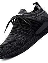 Men's Shoes Tulle Fall Winter Comfort Sneakers Lace-up For Casual Black Dark Grey