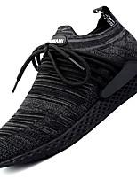 Da uomo Scarpe Tulle Autunno Inverno Comoda Sneakers Lacci Per Casual Nero Grigio scuro