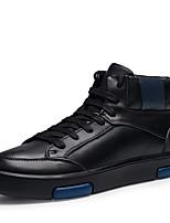 Homme Chaussures Vrai cuir Cuir Nappa Cuir Hiver Confort Bottes à la Mode Botillons Chaussures de plongée Doublure fluff Basket