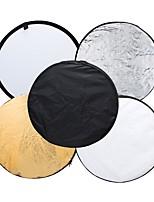 andoer 43 disco 110cm 5 in 1 (argento bianco nero traslucido nero) fotocamera pieghevole multifunzione fotografica studio riflettore foto