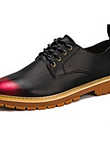Men's Shoes PU Spring Fall Comfort Oxfords Lace-up For Casual Black/Red Black/Silver Black/Gold