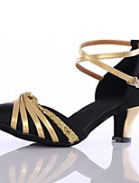 Damen Modern Seide Sneaker Innen Maßgefertigter Absatz Schwarz und Gold Maßfertigung
