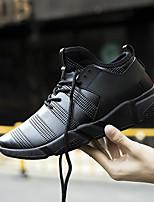 Herren Schuhe PU Frühling Herbst Komfort Sportschuhe Walking Schnürsenkel Für Normal Weiß Schwarz Rot