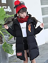Girls' Print Down & Cotton Padded,Cotton Polyester Winter Long Sleeve
