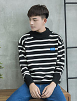 Men's Casual/Daily Regular Cardigan,Striped Stand Long Sleeves Cotton Winter Thick Micro-elastic