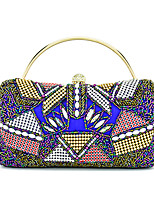 Women Bags All Seasons Special Material Shoulder Bag Beading Crystal Detailing for Wedding Formal Blue Gold White Black Red