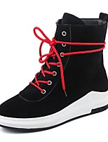 Women's Shoes Nubuck leather Fall Winter Fashion Boots Bootie Combat Boots Boots Wedge Heel Round Toe Booties/Ankle Boots Lace-up For