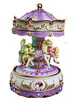 Music Box Toys Horse Carousel Cartoon Plastics Romantic 1 Pieces Not Specified Birthday Gift