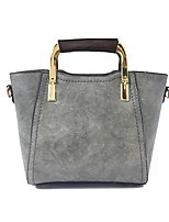 Women Bags All Seasons PU Tote Zipper for Casual Office & Career Black Red Blushing Pink Gray Dark Green