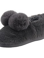 Boys' Shoes Velvet Winter Fur Lining Fluff Lining Comfort Slippers & Flip-Flops Pom-pom For Casual Light Brown Gray Black