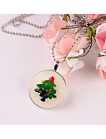 Women's Pendant Necklaces Circle Tree of Life Alloy Chrismas Jewelry For Gift Christmas