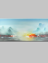 Hand-Painted Landscape Horizontal,Abstract Modern One Panel Canvas Oil Painting For Home Decoration