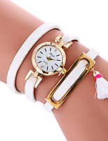 Women's Fashion Watch Bracelet Watch Quartz PU Band Cool Casual Black White Pink Beige