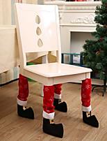 1 pc feriados decorações de natal cadeira pé cobertura