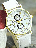 Women's Fashion Watch Wrist watch Quartz Leather Band Casual Black White Brown