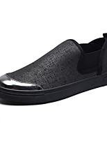 Men's Shoes Customized Materials Spring Fall Comfort Loafers & Slip-Ons Flower For Casual Party & Evening Black/Silver Black