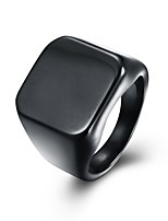 Men's Women's Band Rings Jewelry Fashion Punk Titanium Steel Square Jewelry For Gift Casual
