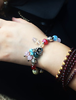 Women's Girls' Strand Bracelet Natural Fashion Crystal Alloy Flower Jewelry For Gift Daily
