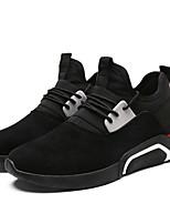 Da uomo Scarpe Tessuto Estate Autunno Comoda Suole leggere Sneakers Lacci Per Casual Nero Grigio Bianco/nero