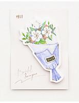 1 mazzo di fiori di fiori auto-bastone set di note (colore casuale)
