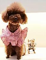 Cane Vestiti Abbigliamento per cani Casual A pois Blu Rosa