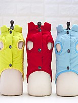 Dog Vest Dog Clothes Casual/Daily Solid Green Red Yellow
