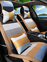 Cartoon Rainbow Leather Silk Material Car Seat Cushion Seat Cover Seat four Seasons General All Around-4#