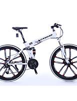 Mountain Bike Folding Bike Cycling 21 Speed 26 Inch/700CC SHIMANO Double Disc Brake Suspension Fork Aluminium Alloy Frame Aluminium