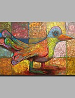 Hand-Painted Animal Horizontal,Artistic Birthday Modern/Contemporary Office/Business Christmas New Year's One Panel Canvas Oil Painting