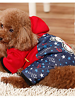 Dog Clothes/Jumpsuit Dog Clothes Casual/Daily British Blue Red