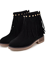 Women's Shoes Nubuck leather Fall Winter Comfort Novelty Fashion Boots Bootie Boots Chunky Heel Round Toe Booties/Ankle Boots Zipper