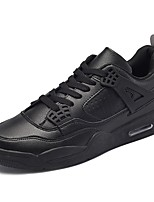 Для мужчин обувь Полиуретан Весна Осень Удобная обувь Спортивная обувь Беговая обувь Шнуровка Назначение Атлетический Белый Черный Красный
