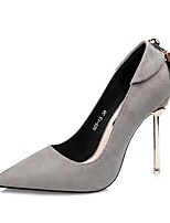 Women's Shoes Leatherette Spring Fall Comfort Heels Stiletto Heel Pointed Toe For Dress Green Red Gray Black