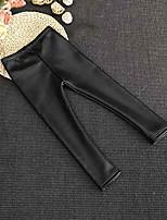 Pantalons Fille Couleur Pleine Polyuréthane Automne Hiver