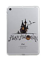 billige -Til iPad (2017) Etuier Transparent Mønster Bagcover Etui Transparent Halloween Blødt TPU for Apple iPad (2017) iPad Pro 12.9'' iPad Pro