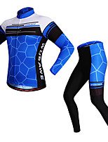 Cycling Jersey with Tights Unisex Long Sleeves Bike Clothing Suits Reflective Strip Quick Dry Stretchy Spandex Polyester Classic