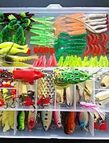 132 pcs Leurre de vibration Kits de leurre Appât métallique Têtes plombées Pêche à la traîne Leurre Ecrevisses / Crevette Grenouille Shad