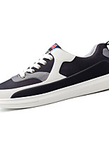 Men's Shoes PU Spring Fall Comfort Light Soles Sneakers Lace-up For Casual Outdoor Royal Blue Black/White Red Black