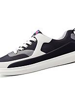Da uomo Scarpe PU (Poliuretano) Primavera Autunno Comoda Suole leggere Sneakers Lacci Per Casual Nero Rosso Bianco/nero Royal Blue