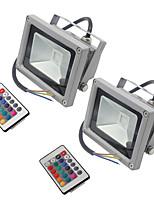 2 pcs hkv® 10w 900-1000 lm rgb étanche fantaisie led projecteur intégré led ac85-265v