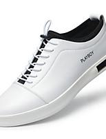Homme Chaussures Cuir Printemps Automne Confort Semelles Légères Basket Pour Décontracté Blanc Noir