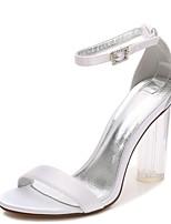 Da donna scarpe da sposa Cinturino Decolleté Cinturino alla caviglia pattino trasparente Primavera Estate Raso Matrimonio Formale Serata