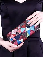Women Bags All Seasons PU Clutch for Shopping Casual Gray Rainbow