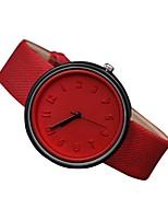Damen Modeuhr Quartz Echtes Leder Band Bequem Schwarz Weiß Blau Rot Orange Grün Rosa