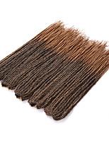 Twist Braids Hair Braid Crochet 100% Kanekalon Hair Black/Purple Black/Strawberry Blonde Medium Auburn Strawberry Blonde 18