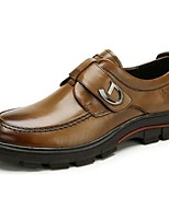 Men's Shoes Cowhide Spring Fall Formal Shoes Oxfords For Office & Career Brown Black