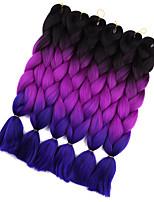 Jumbo Hair Braid Crochet Ombre Braiding Hair 100% Kanekalon Hair Black/Green Black/Purple Black/Blue Medium Brown Medium Brown/Medium