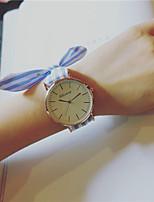 Damen Modeuhr Armbanduhr Chinesisch Quartz / Stoff Band Streifen Bettelarmband Bequem Elegante Blau Rot